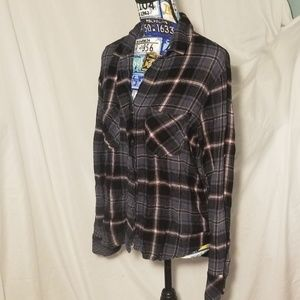 Cloth & Stone Plaid Top by Anthropologie